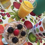Delicious start to our breakfast!
