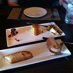 Cheese plate appetizer.
