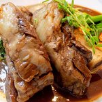 Braised short ribs...fall-off-the-bone, melt in your mouth