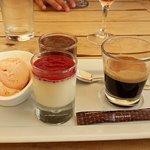 Tagliatelles aux écrevisses flambées au cognac et café Con Dolci