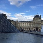 One to two blocks to the Louvre's entrances.