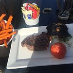 Steak with sweet fries