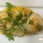 Seiche à la plancha et son risotto un vrai délice!!!!!