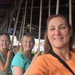 Swinging at Tacobar in Jaco Beach!