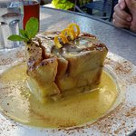 Bread pudding at Chinook's. Definitely enough to share!