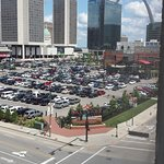 View from the 5th floor looking at Ballpark Village