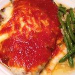 Chicken Parmigiano Dinner w/Buttered String Beans