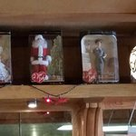 Several Lucy dolls on display