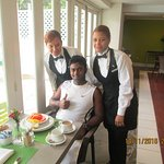 Alessandra and other waitress who gave good service