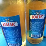 Kalik- front and back - local beer.