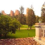 View from of rock formations from Castle terrace.