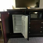 Large mini-refrigerator, microwave, TV