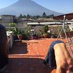 Captain Tom's view from the terrace Antigua, Guatemala