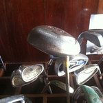 Old tat that is offered for practice rental at $2 per club - stop being 'cheap' Green Pearl!