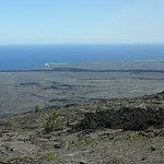 Lava flow in background