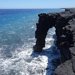 Coastal arch at end point of Chain of Craters road