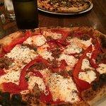 italian sausage & pepper pizza, yummy!