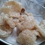 Pork Cracklin's appetizers. (bag of fried pork rinds??)