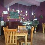 Cashier and coffee/tea bar
