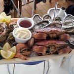 Notre plateau de fruit de mer, bien présenté et très frais !