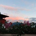 coucher de soleil vu de notre balcon