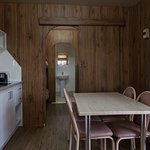 Self Contained Cabin Kitchenette and Dining area