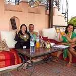the riad's rooftop - our breakfast nook