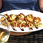 Lyme Bay Hand Dived Scallops (5) with sautéed fennel and crispy pancetta