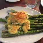 Asparagus with fresh baked Parmesan