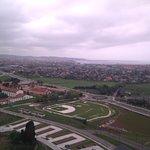 Vista desde la torre del reloj de Gijón y parroquias circundantes