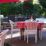 Saint Rome de Tarn, Hotel Les Raspes, le jardin, restaurant, salon extérieur, la piscine