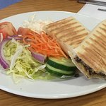 Never disappointed with the Haggis and cheese Panini and deliciously fresh side salad.
