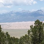 View of the Great Sand Dune National Park from the Zapata Falls trail. Looks more like a beach!