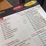 All you can ear menu