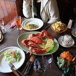Delicious Lobster dinner, enough to share