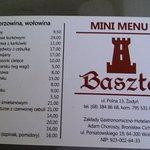 Bardzo poręczne mini menu :) w rozmiarze wizytówki - warto mieć przy sobie ;)