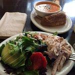Free-range chicken salad was tasty.