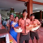 Some of our friendly Dining area and front desk staff
