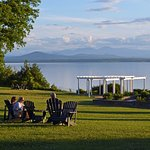 Front lawn and Lake Champlain