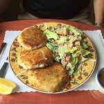 Large fish cakes - huge serving!