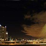 The Estaiada Bridge views from the Hilton São Paulo Morumbi