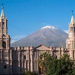 Una vista a del volcán el Misti