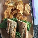 Tuna on multigrain and a great beverage menu
