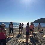 Stretching sur la plage par Elodie
