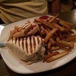 Cajun Shrimp Wrap and fries