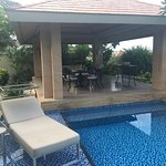 View of our villa pool & seating area