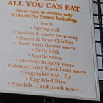 "The ""All you can't eat"" sign - Shame on you"