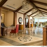 Lobby at Inn by the Sea opens to Atlantic views
