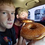 It almost takes 2 hands to eat their donuts!