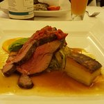 Roasted rump or Cornish Lamb and dauphinoise potatoes (part of the taster menu)